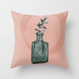 Eucalyptus Vase Throw Pillow
