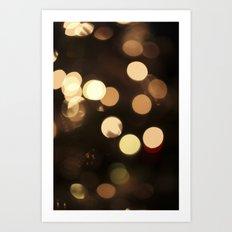 Celebrate - Gold Bokeh Art Print