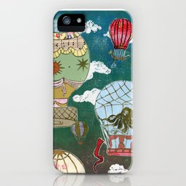 Hot Air Balloons I iPhone Case