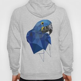 Hyacinth Macaw Blue parrot Birds and animals art Hoody