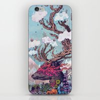 deer iPhone & iPod Skins featuring Journeying Spirit (deer) by Mat Miller