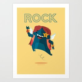 :::Rock Monster::: Art Print