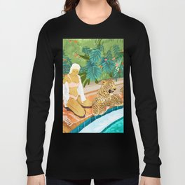 The Wild Side #illustration #painting Long Sleeve T-shirt