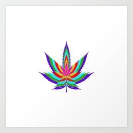 Weed Leaf Artwork | Marijuana 420 Gift Idea Art Print