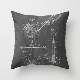 Ships Anchor Patent - Anchor Art - Black Chalkboard Throw Pillow