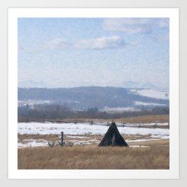 Out on the Prairies Art Print