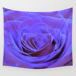 Purple Blue Rose Wall Tapestry