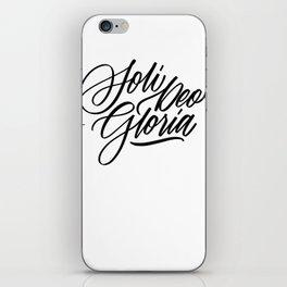 Soli Deo Gloria - Glory to God Alone iPhone Skin