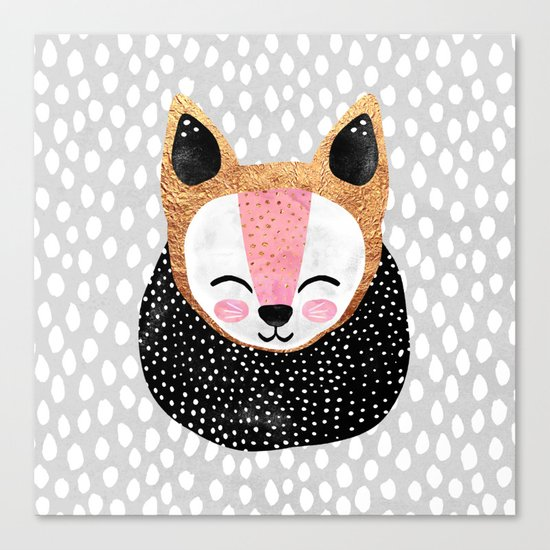 Little Arctic Fox Canvas Print