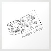 whisky Art Prints featuring Whisky Testing  by mimistyle