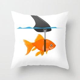 shark fish mindset confidence funny gift Throw Pillow