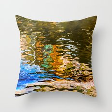 reflection -abstract Throw Pillow