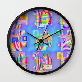 Abstract lighteffects -22- Fantasy on ice Wall Clock