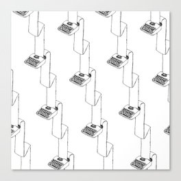 continuous typing pattern Canvas Print