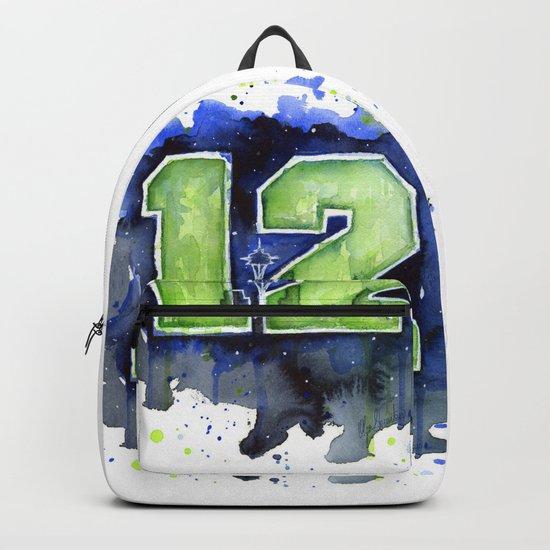 12th Man Seahawks Seattle Go Hawks Art Backpack