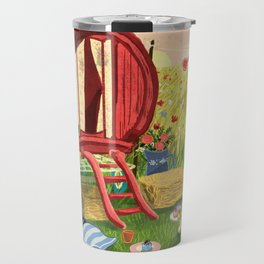Gypsy Caravan at Sunset Travel Mug