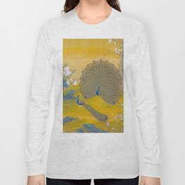 Peacock spreading its tail feathers - Lang Shining (Giuseppe Castiglione, 1688-1766 Long Sleeve T-shirt