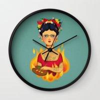frida Wall Clocks featuring Frida by La Perera