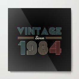 Vintage since 1984 36th Birthday Men Metal Print