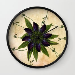 Jackmanii Wall Clock