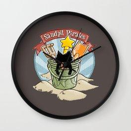 Sandpit Pirates (Sky Blue) Wall Clock