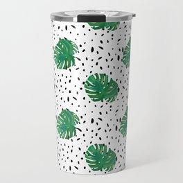 Monstera Dot Spots Travel Mug