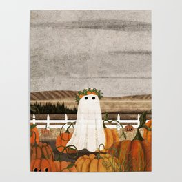 There's a Ghost in the Pumpkins Patch Again... Poster