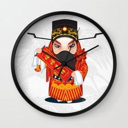 Beijing Opera Character FuXing Wall Clock