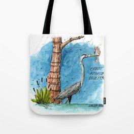Mississippi Great Blue Heron Tote Bag
