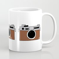 vintage camera Mugs featuring camera by THE HOUSE OF FOX