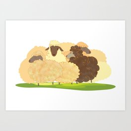 There is always a black sheep Art Print