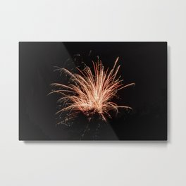 Lone Firework Metal Print