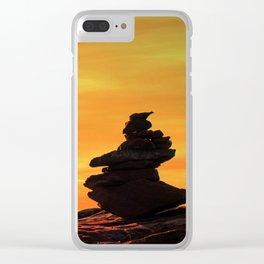 Zen mountains Clear iPhone Case