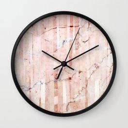 Peachy marble (layering) Wall Clock