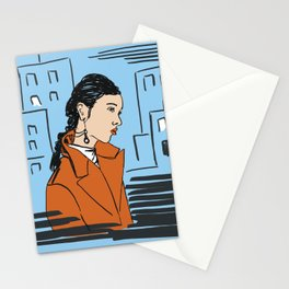 contemplating life Stationery Cards
