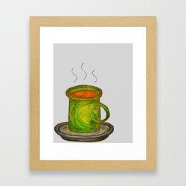 Green mug Framed Art Print
