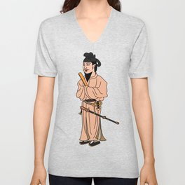 Prince Shotokutaishi_japanese historical politician  Unisex V-Neck
