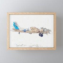 Sentimental Journey Profile watercolor by Ahmet Asar Framed Mini Art Print