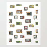 tv Art Prints featuring television by Kelly Tucker