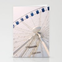 ferris wheel Stationery Cards featuring Ferris Wheel by Pati Designs