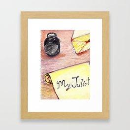 Romeo's Letter Framed Art Print