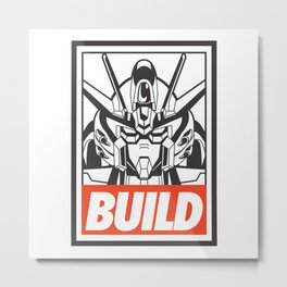 BUILD-GUNDAM Metal Print