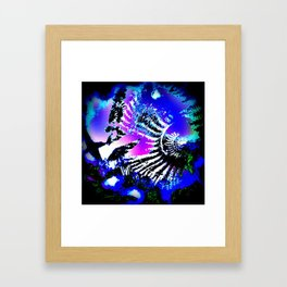 Fossil - Ammonite and Buddleia Framed Art Print