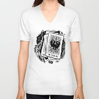 tarot V-neck T-shirts featuring Tarot talk by pam wishbow