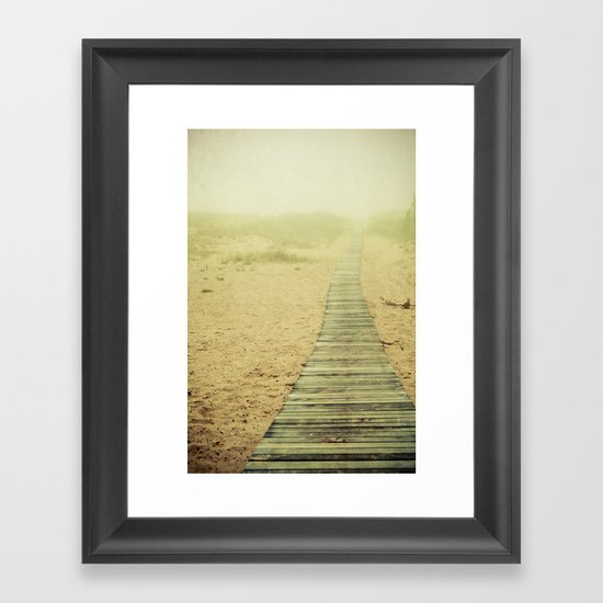 Beach Hike Framed Art Print