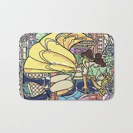 Stain glass Window Belle and the Prince Bath Mat