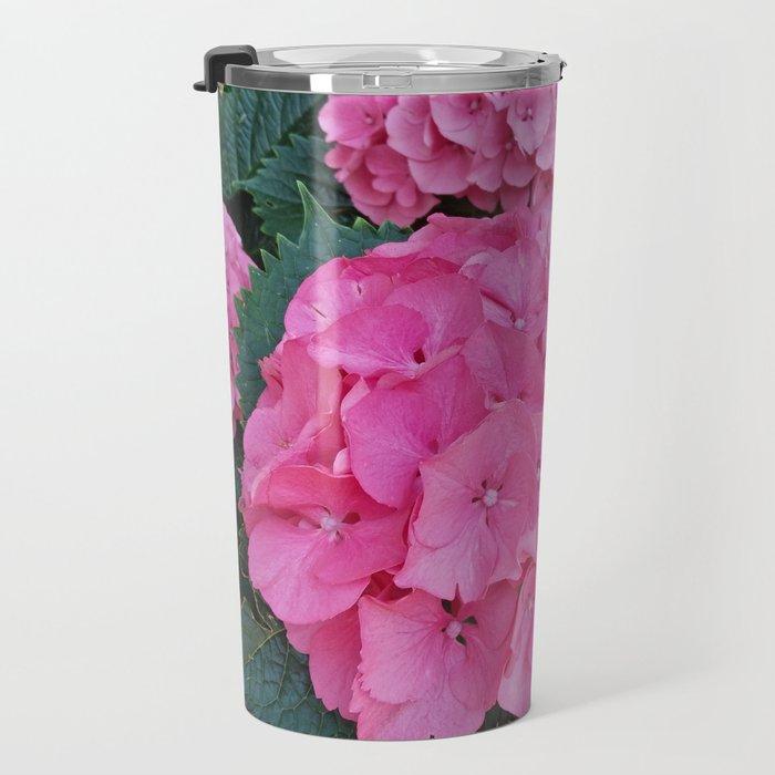 Pink hydrangea garden Travel Mug