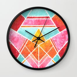 Fish - Colorful Geometric Wall Clock