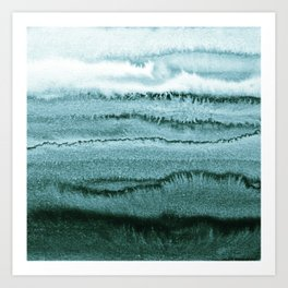 WITHIN THE TIDES - OCEAN TEAL Art Print