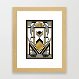Up and Away - Art Deco Spaceman Framed Art Print